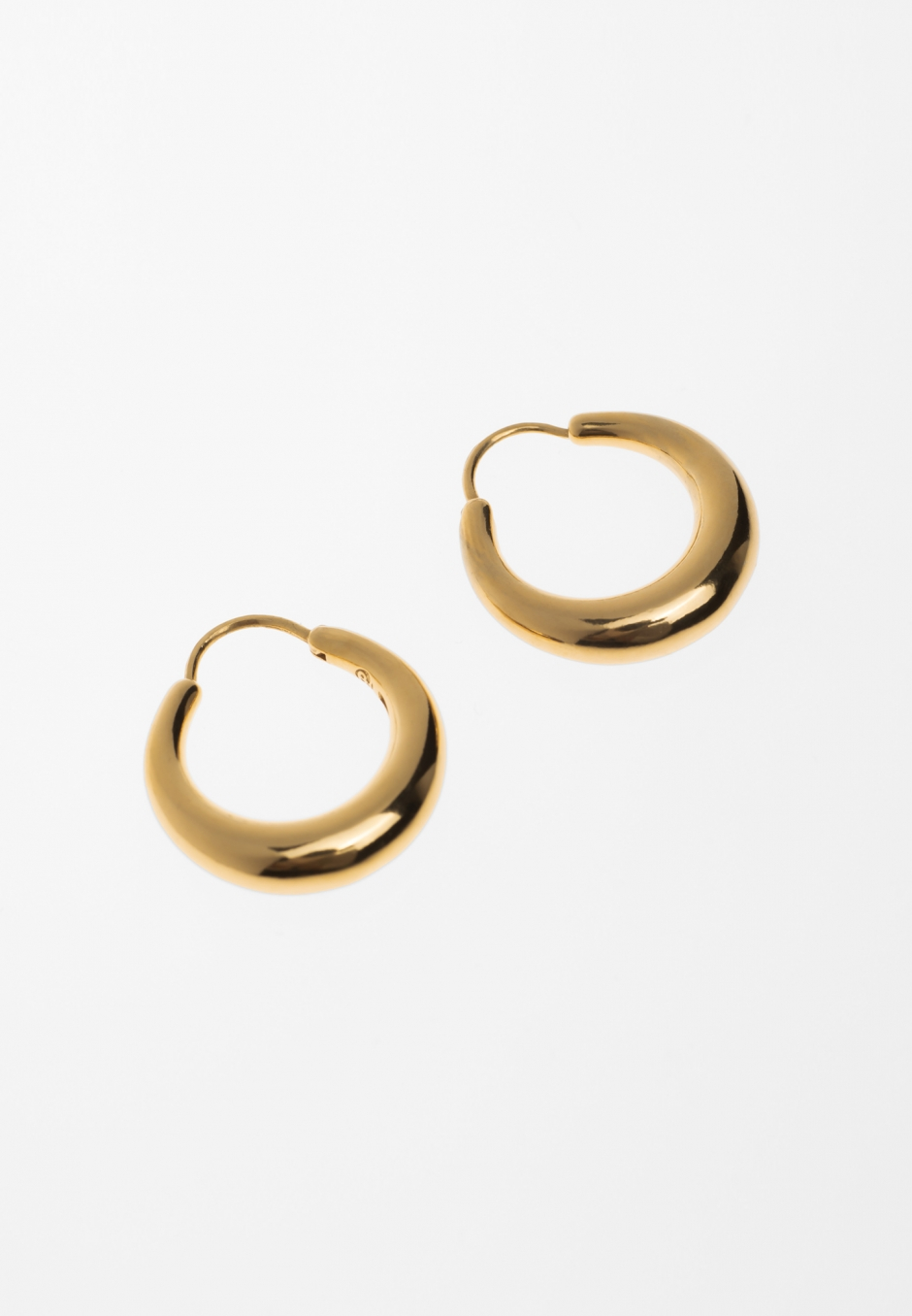 All Blues Snake Earrings Small Thick Polished Gold