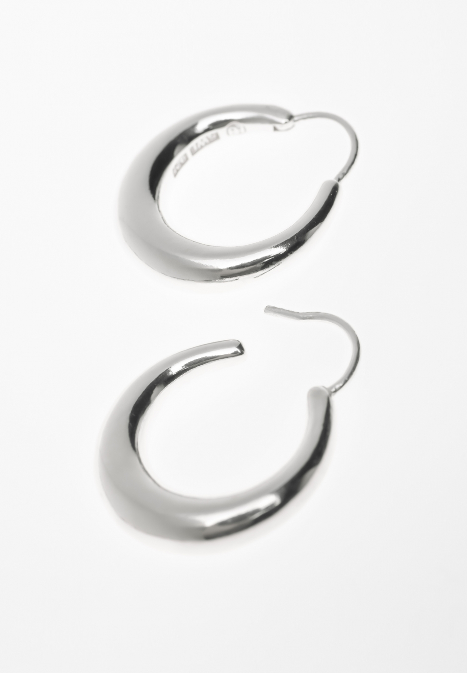 All Blues Snake Earrings Large Thick Polished