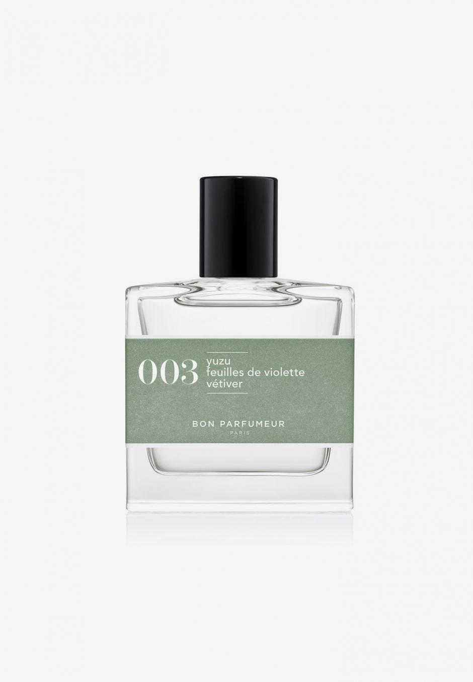 Bon Parfumeur EdP 003: yuzu/violet leaves/vetiver 30ml