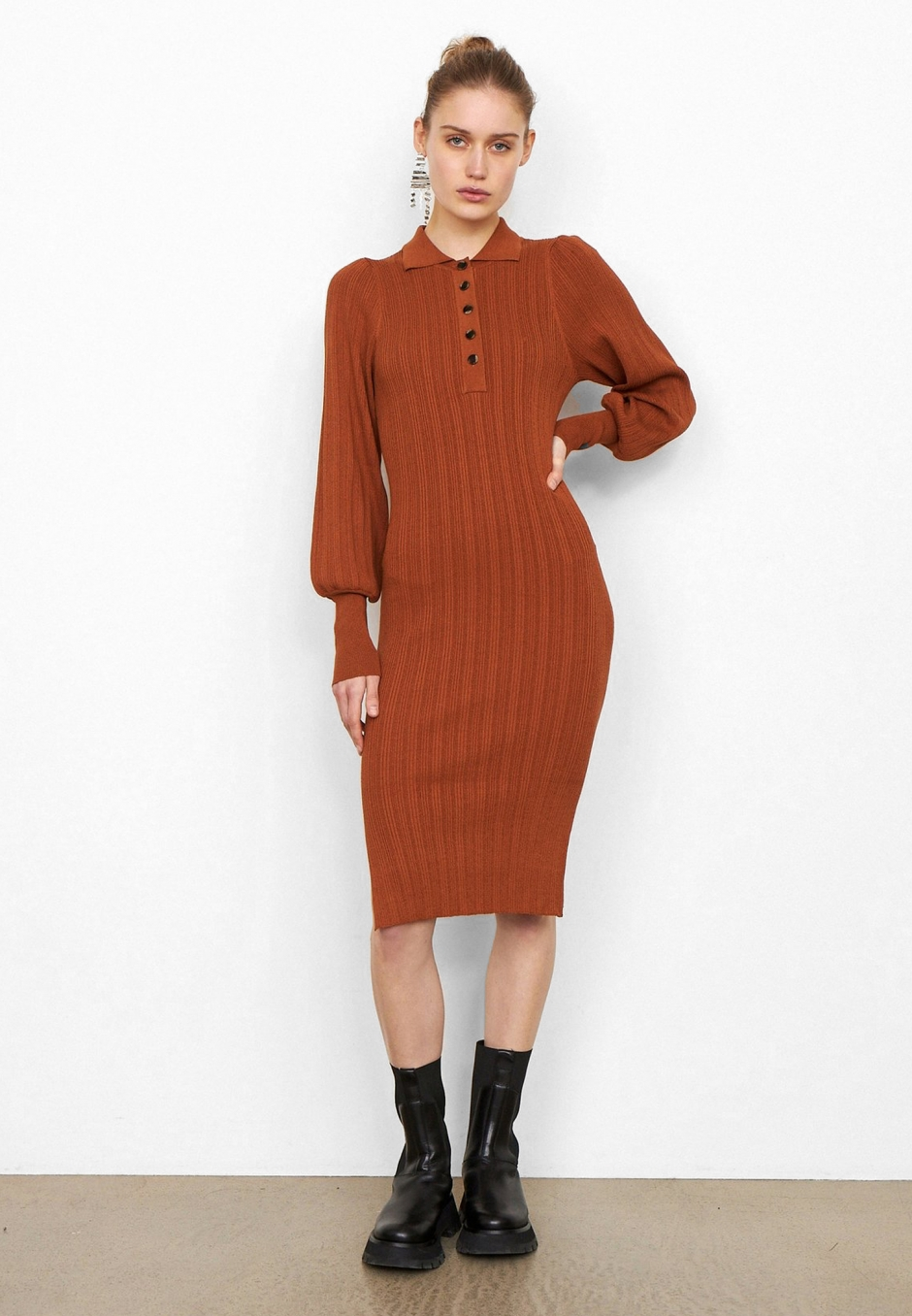 Second Female Canillu Knit Dress
