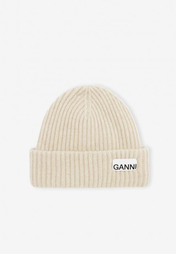 Ganni Recycled Wool Beanie Brazilian Sand