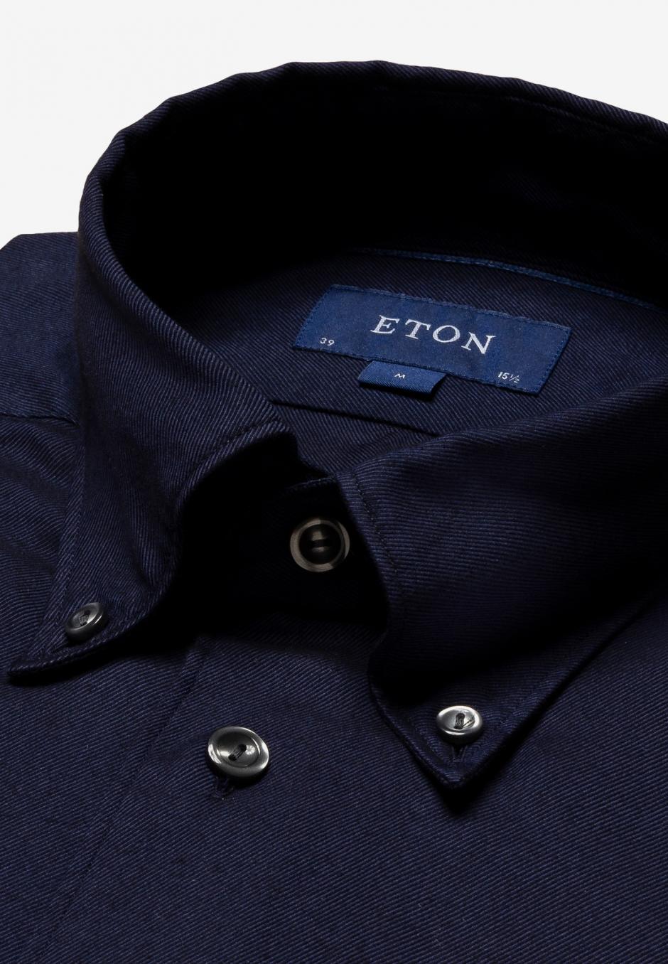 Eton Slim Fit Blå Cotton & Tencel