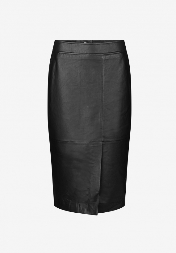 Second Female Barry Leather Midi Skirt