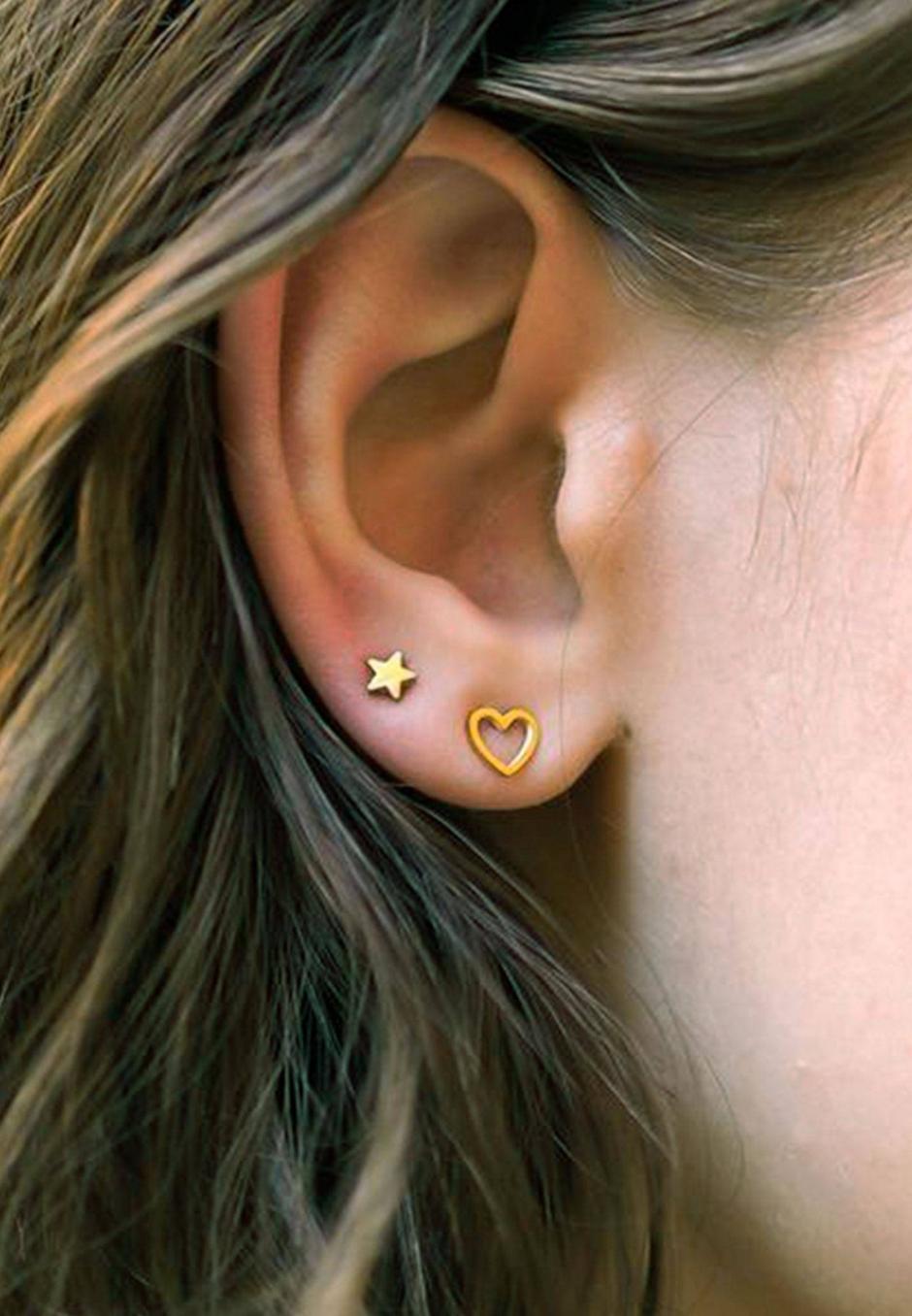 Wos Stjärna Earrings Guld