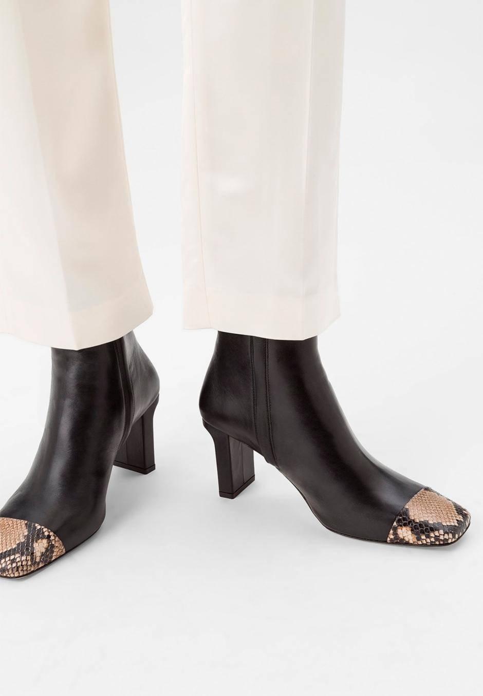 Aeydē Belle leather black/snake