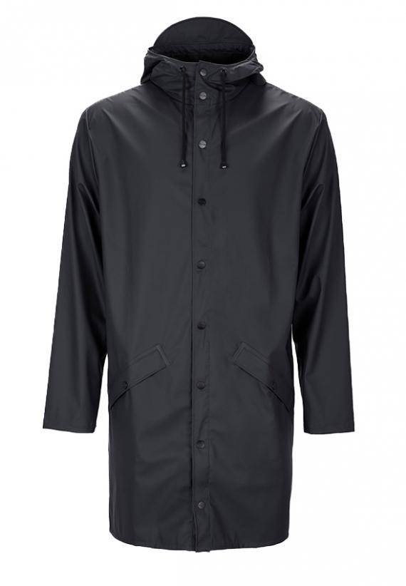 Rains Long Jacket Svart