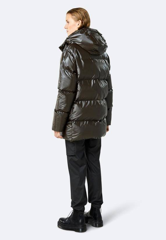 Rains Puffer Hooded Coat