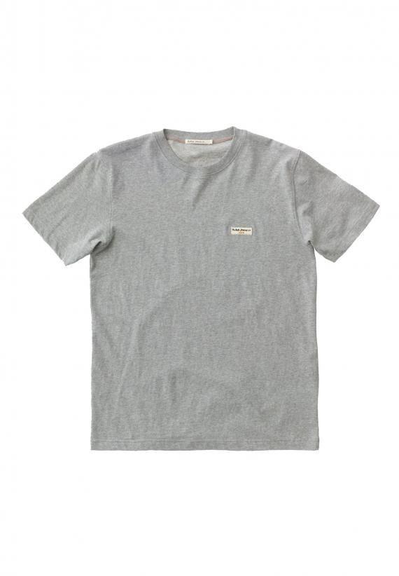 Nudie Jeans Daniel Logo tee grå