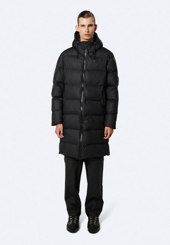 Rains Long puffer jacket svart