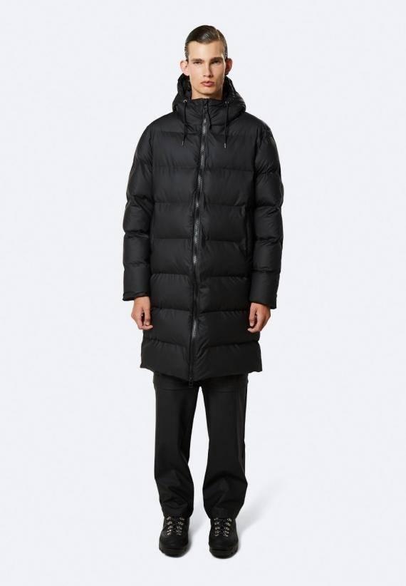 Rains Long puffer jacket svart