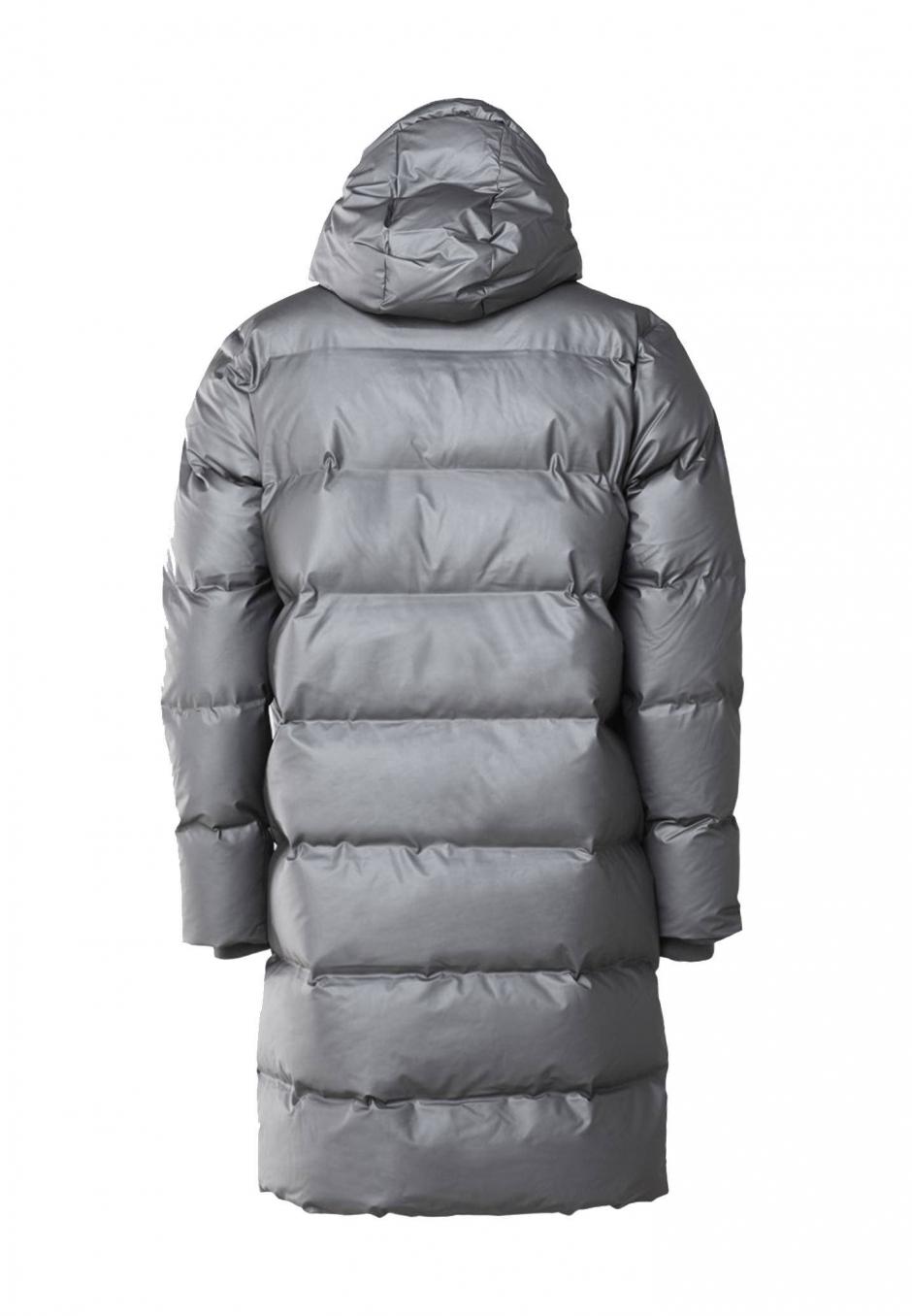 Rains Long Puffer Jacket Grå