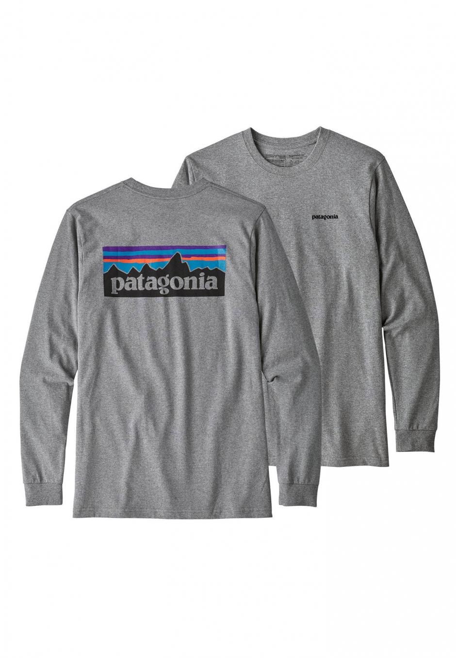 Patagonia Long-Sleeved P-6 Logo Responsibili-Tee