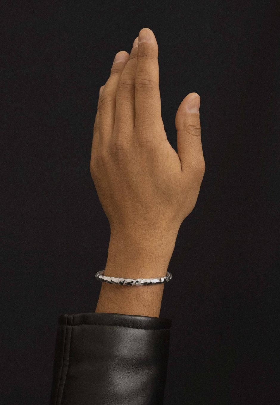 All Blues Snake Bracelet Thick Carved