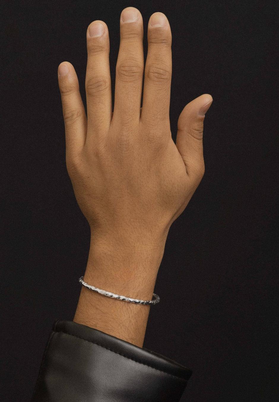 All Blues Snake Bracelet Thin Carved