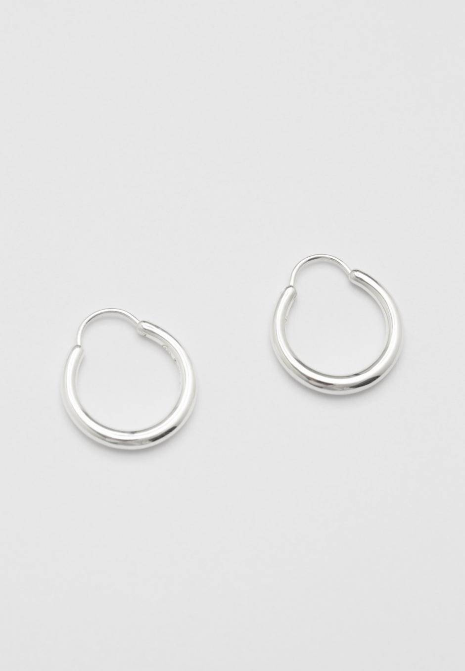All Blues Snake Earrings Small Thin Polished