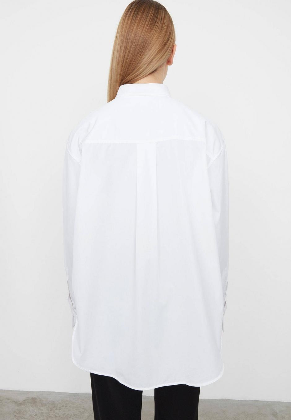 Totême Oversized Poplin Shirt White