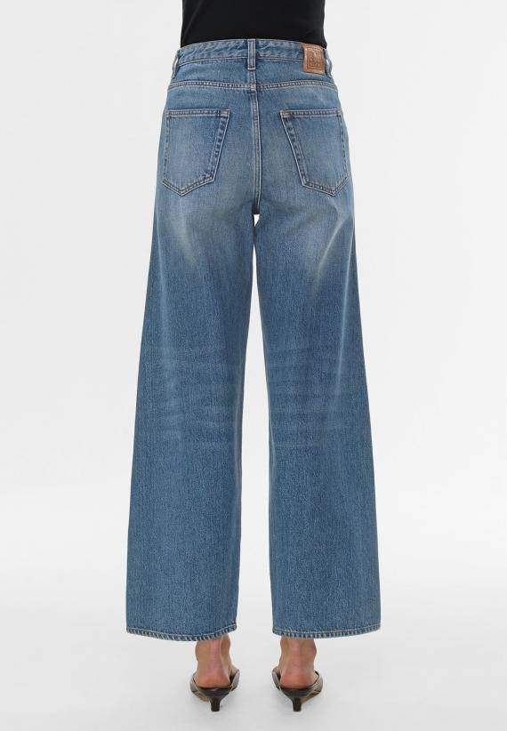 Totême Flare Fit Denim Washed Blue