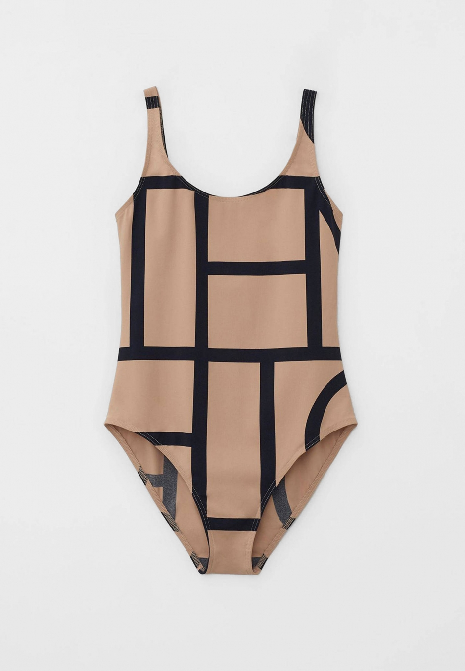Totême Monogram Swimsuit Beige