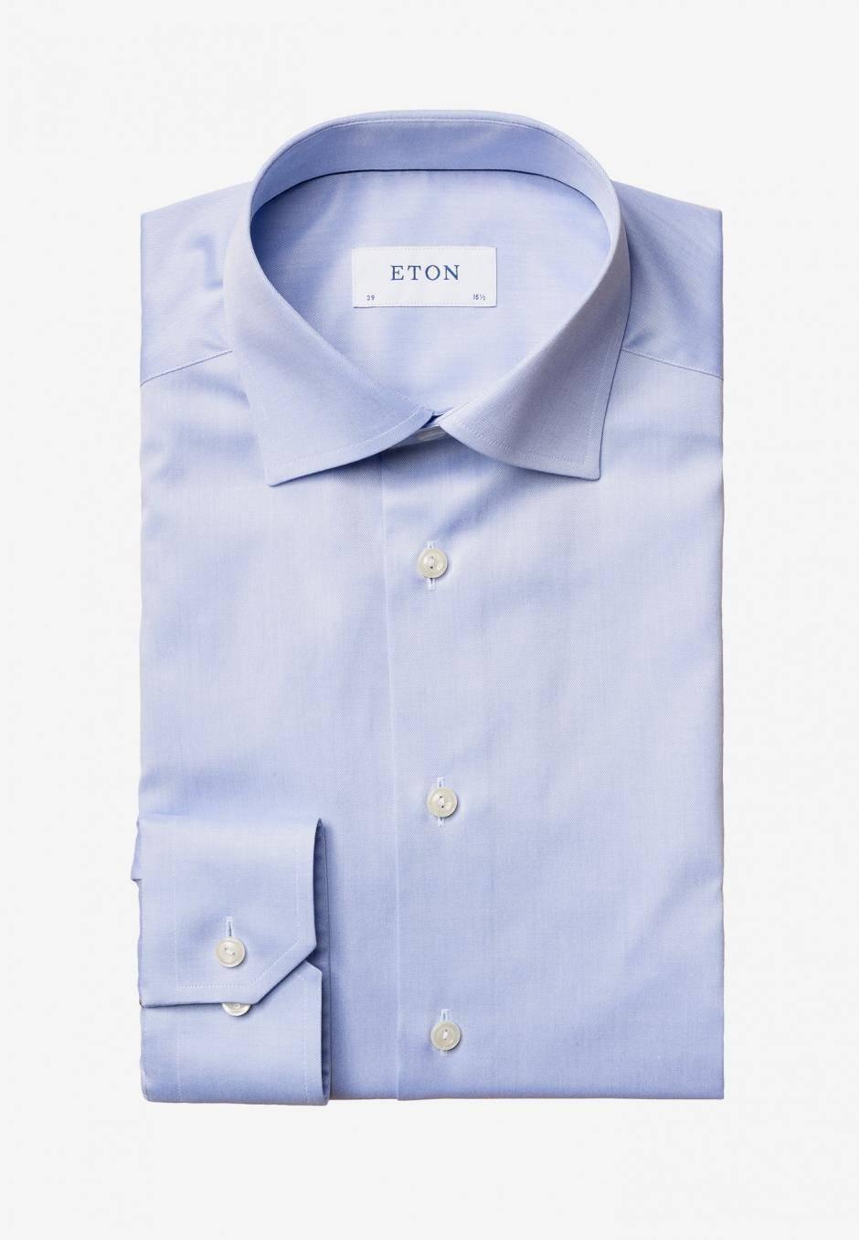 Eton Contemporary Fit Ljusblå