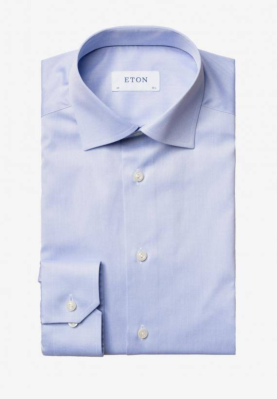 Eton Slim Fit Ljusblå