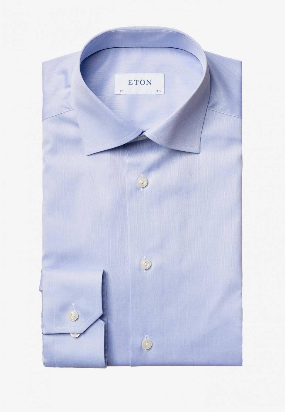 Eton Slim Fit Ljusblå