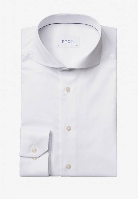 Eton Slim Fit Extreme Cut-Away Vit