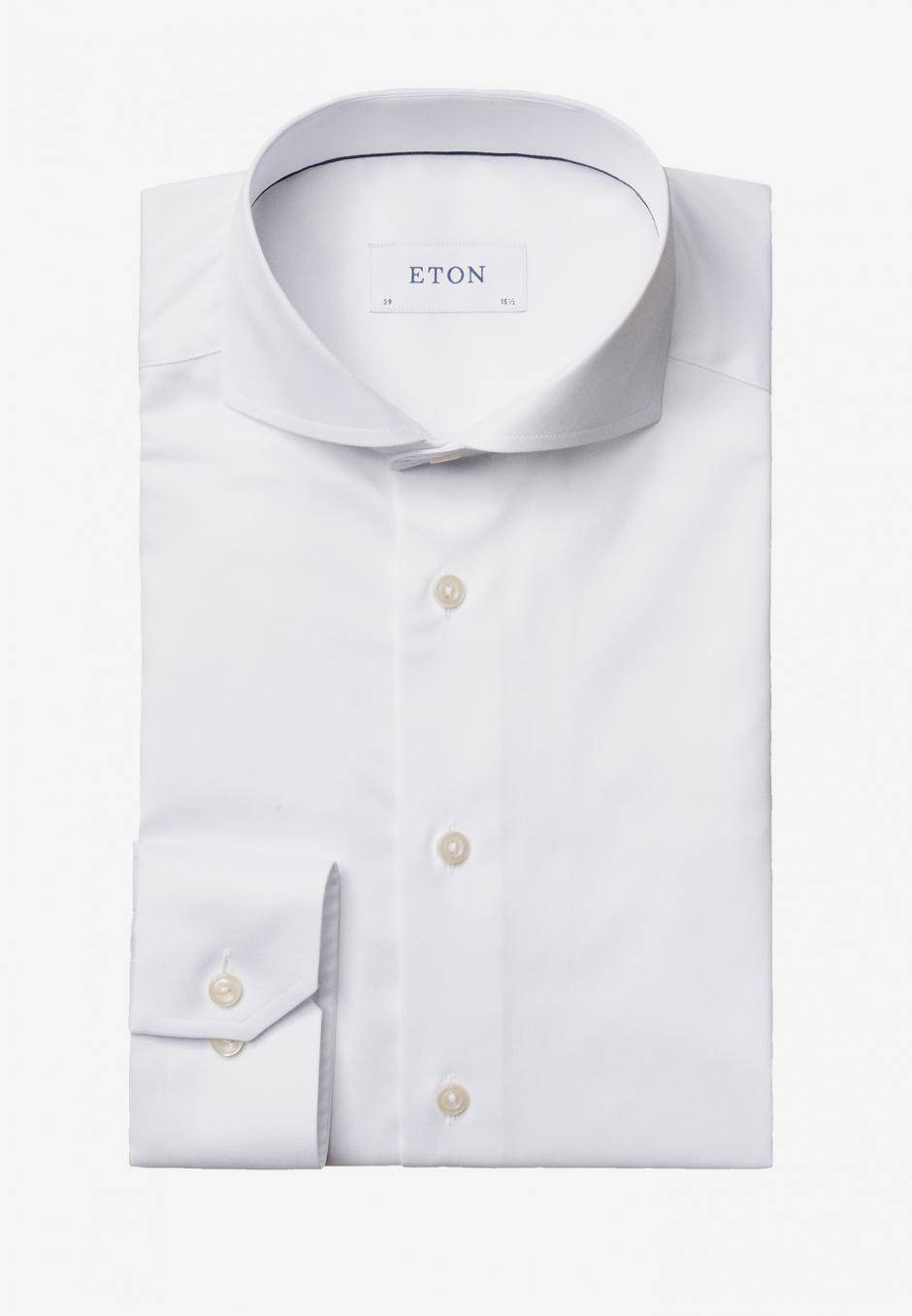 Eton Slim Fit Extreme Cut-Away Vit