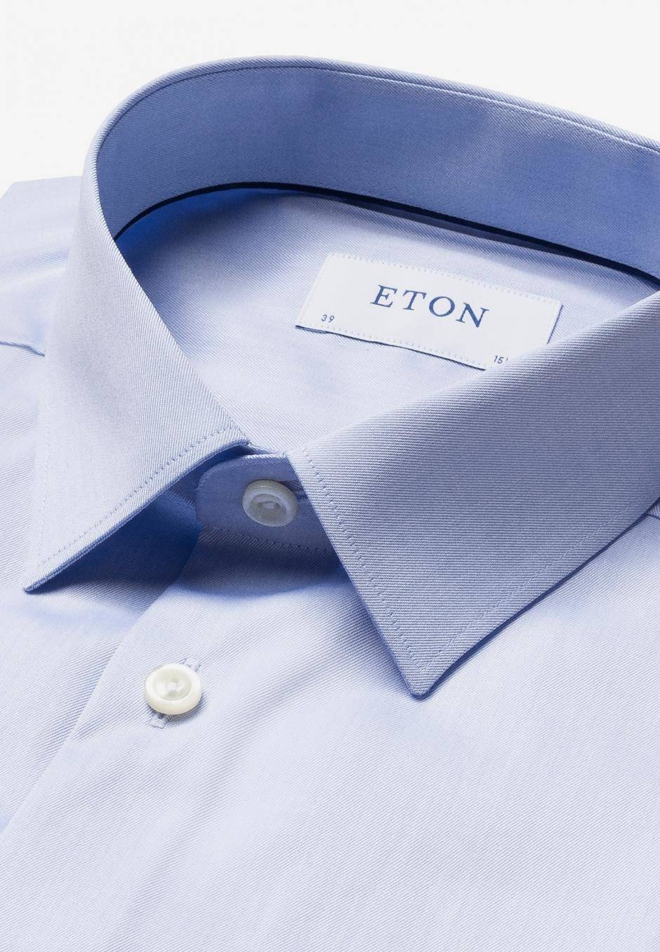 Eton Super Slim Fit Ljusblå
