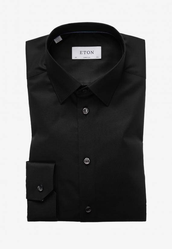 Eton Super Slim Fit Svart