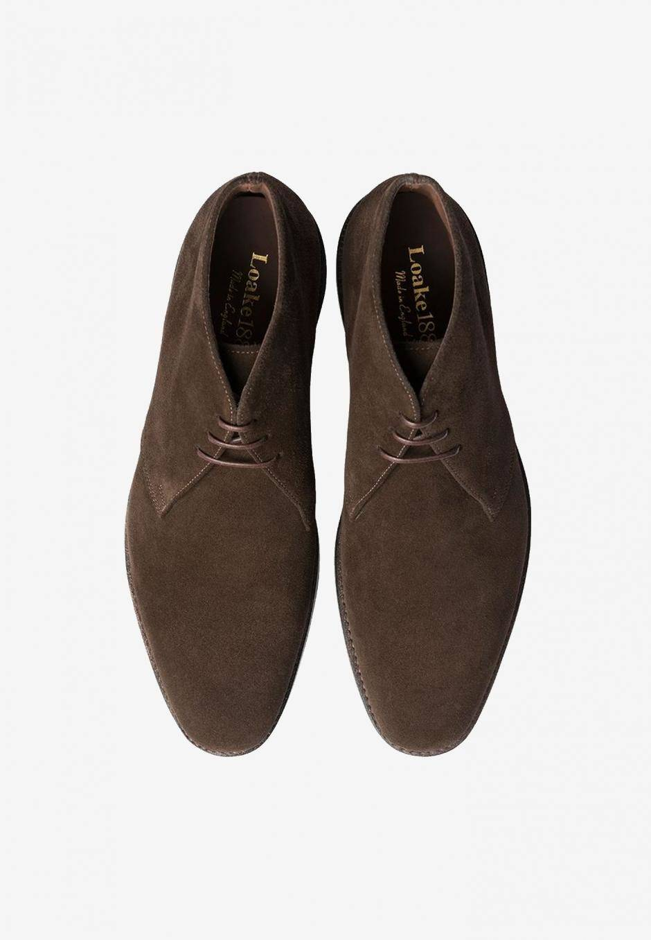 Loake Pimlico Dark Brown Suede