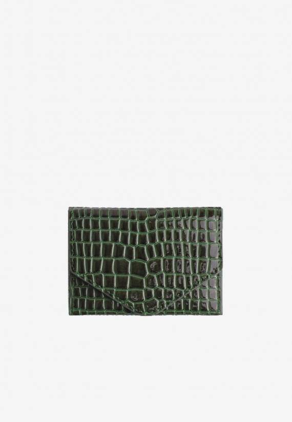Hvisk Wallet Croco Jungle Green