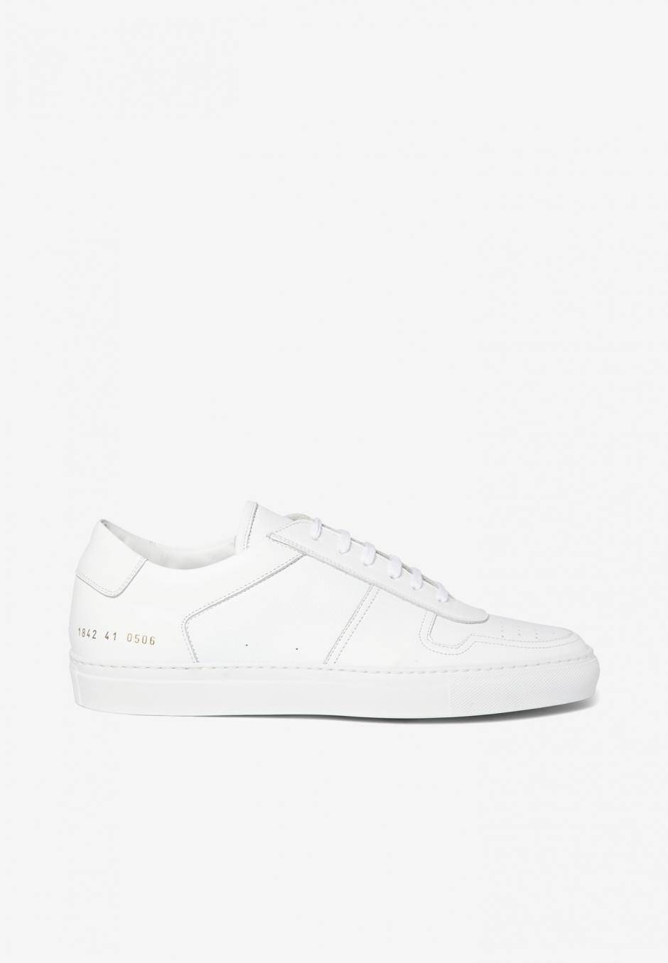 Common Projects Bball Low Leather White